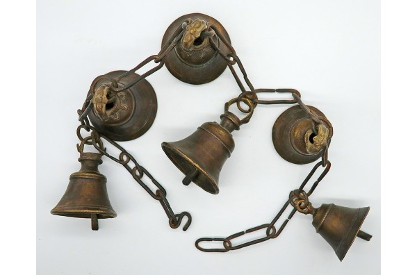 Traditional Antique Bronze Himalayan Shaman Bell Chain