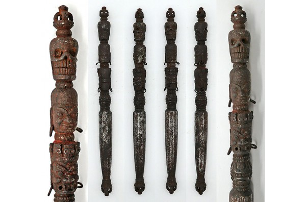 Extremely Rare & Collectable Antique Iron Shaman Phurba from Bhutan