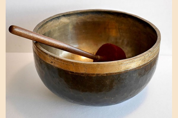 Huge Antique Ultabati Singing Bowl – Low A2 Concert Pitch