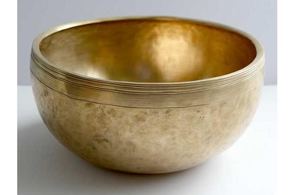 """Large 10"""" Antique Jambati Singing Bowl – Fabulous F3 (171-173Hz)"""