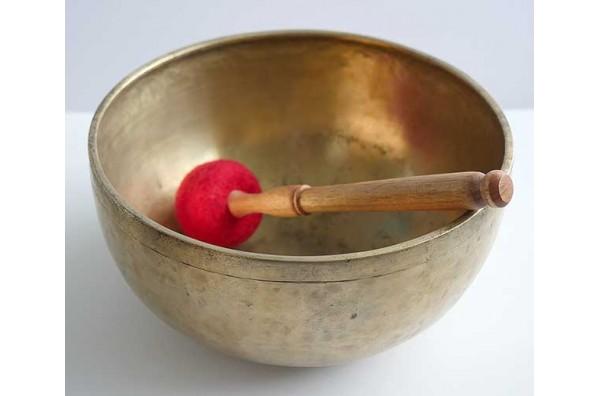 """Large 11"""" Antique Jambati Singing Bowl – Perfect Pitch Bb2 – Half Normal Price"""