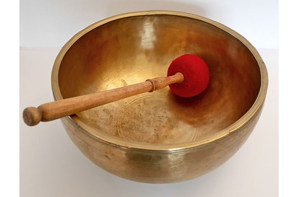 Huge 12-inch Antique Jambati Singing Bowl – D3 (146/149Hz)