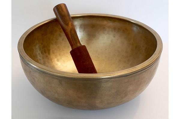 Exquisite 11½-inch Antique Jambati Singing Bowl – F#3 (189Hz)