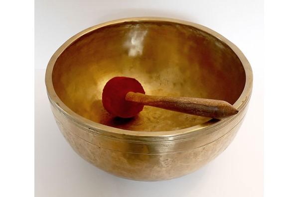 Large 11-inch Antique Jambati Singing Bowl – F#3 (186Hz)