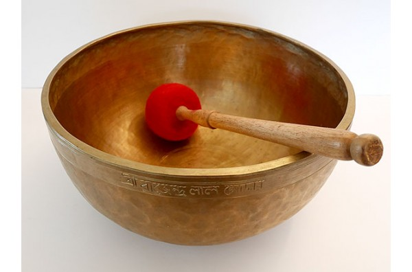 Huge 20th Century 12¾-inch Jambati Singing Bowl – G#2 (102Hz)