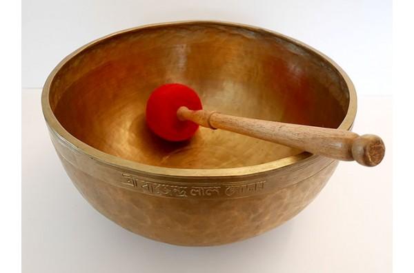 Huge 20th Century 12¾-inch Jambati Singing Bowl – G#2 (102Hz)