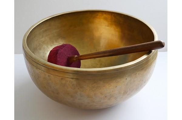 "Glorious 13"" Antique Jambati Singing Bowl – Low Perfect Pitch A#/Bb2 (116.7Hz)"