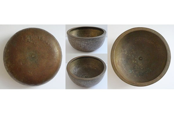 Rare Large 'As Found' Antique A4 Lingam Singing Bowl – Half Price Restoration Project