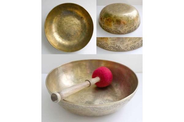 Rare Large Antique Shaman Fountain/Talking/Singing Bowl – E4 & Bb2