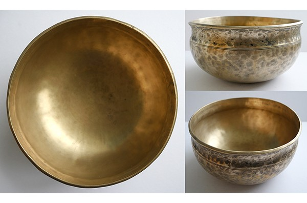 "Rare 9 ½"" Ultabati Singing & Fountain Bowl – B2 (123Hz) & C3 (130Hz)"