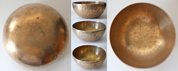 "Lovely 9 "" Antique Jambati Singing Bowl – Variable F4/B3 Fundamental"