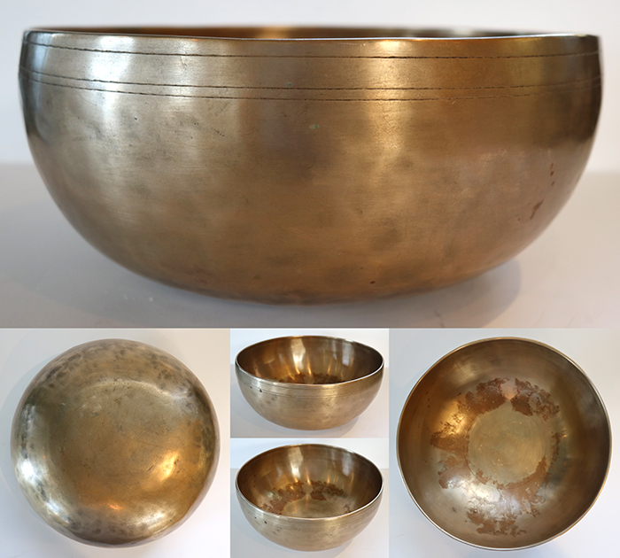 "Fabulous Superior 10 "" Antique Jambati Singing & Fountain Bowl – Perfect Pitch G2 & OM"