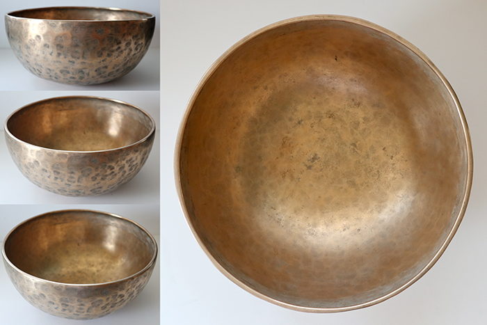"""Large 10 ¼"""" Antique Jambati Singing & Fountain Bowl – Low A2 and OM"""