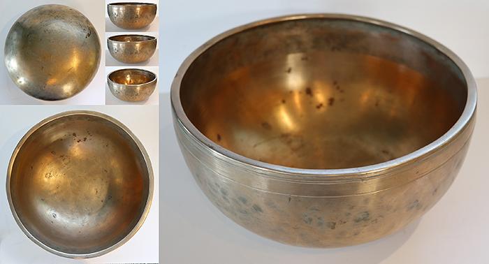 "Superior Quality 10 ¾ "" Antique Jambati Singing Bowl – Fabulous Eb3 with Long Sustain"