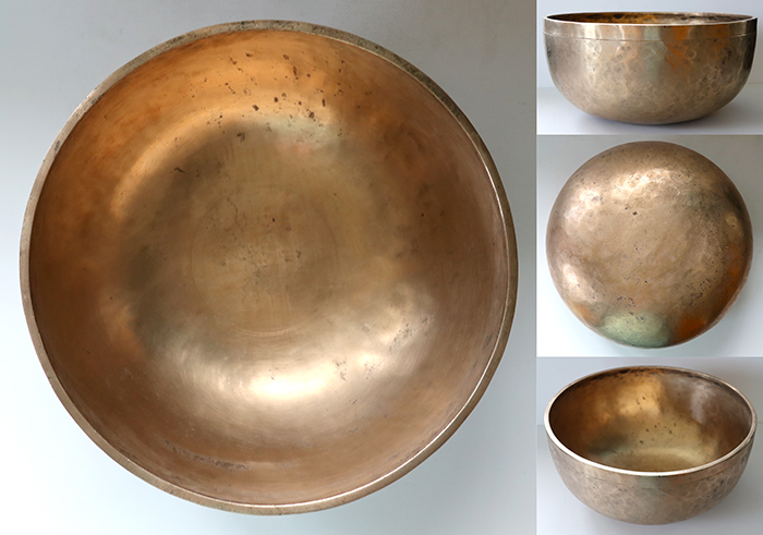 "Wow! A Large 11 ¾ "" Antique Jambati Singing Bowl with Two Perfect Pitch Voices!"