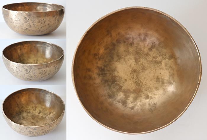 """Small 8 ¼ """" Antique Jambati Singing Bowl – C#3 & C#4 - Reduced"""