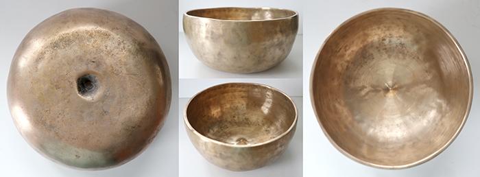 Rare Large Antique Lingam Singing Bowl – F3 (174Hz)