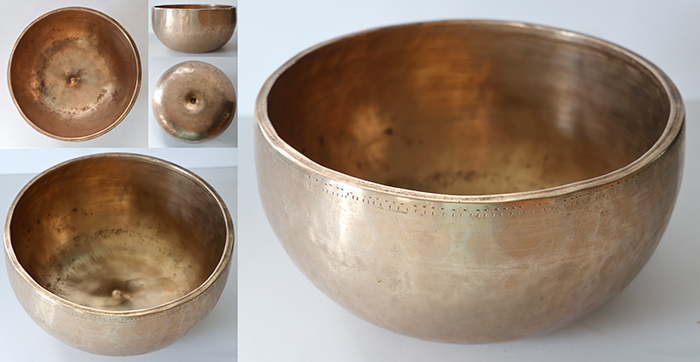 Rare Heavy Antique Lingam Singing Bowl – Close Concert Pitch C4 (263Hz)
