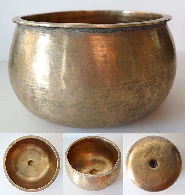 Rare & Extraordinary Antique Pot-Shaped Lingam Singing Bowl – G4 (400Hz)