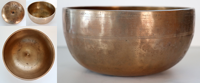 Superior Rare Antique Lingam Singing Bowl – Concert Pitch D4 (294 - 298Hz)