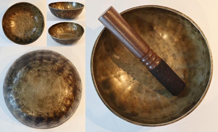 Extremely Rare Antique Lotus Manipuri Singing Bowl – F3/F#3 (178Hz – 180Hz)