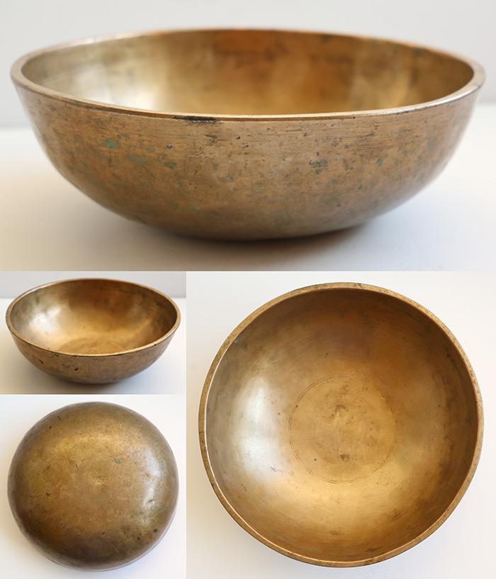 Large Antique Manipuri Singing Bowl F#3 & C5 – Sun Decoration
