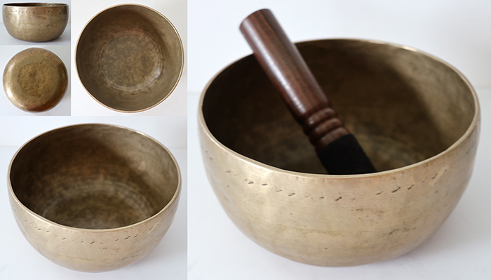 Characterful Antique Thadobati Singing Bowl – F#3 – Ritual Gashes