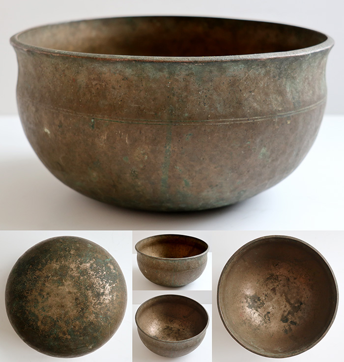 "Medium 9 ½ "" Antique Ultabati Singing Bowl 'As Found' – Low B2 (120Hz)"