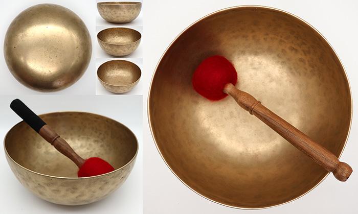 """Superior Medium-Size 9"""" Antique Singing Bowl – Rare A2 & Powerful E4"""