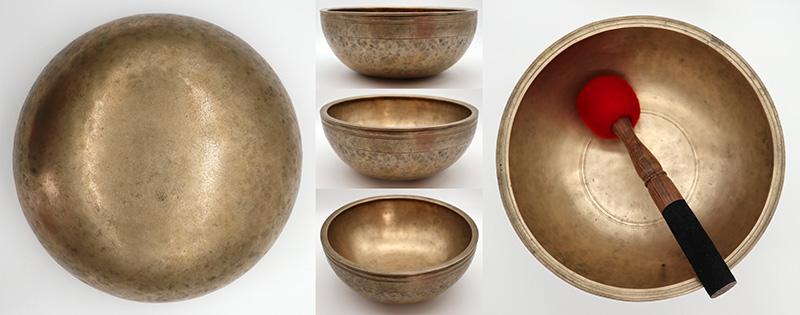 "Stunning Museum Quality 10 ¼ "" Antique Jambati Singing Bowl – Bb3 (235-236Hz)"