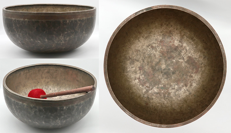 Magnificent, Majestic & Massive 13 ½-Inch Antique Jambati Singing Bowl – Wonderful F#2