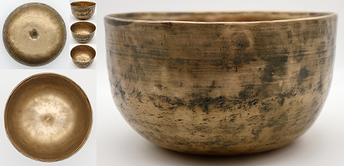Rare Collectable 18th Century Bell-Shaped Lingam Singing Bowl  - Perfect Pitch & Inscribed