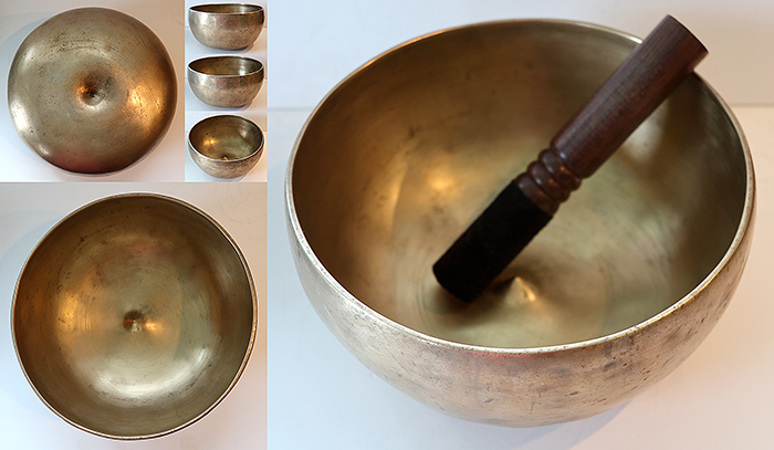 Rare Large Antique Golden Lingam Singing Bowl – Perfect Pitch Eb3 (156Hz)