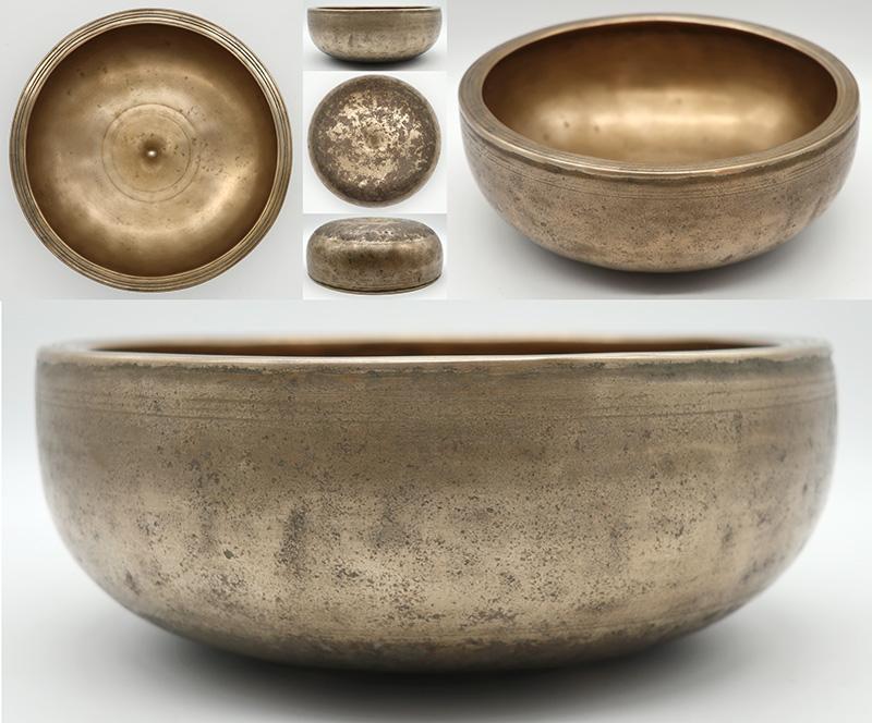Fabulous Rare 18th Century Ceremonial Lingam Singing Bowl – A4/Bb4 Cusp