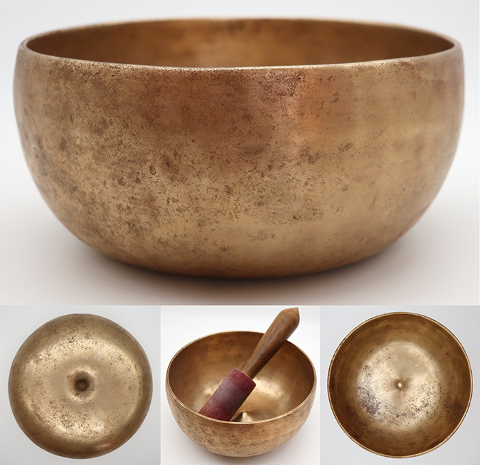 Rare Large Antique Lingam Singing Bowl – F#3  & C5