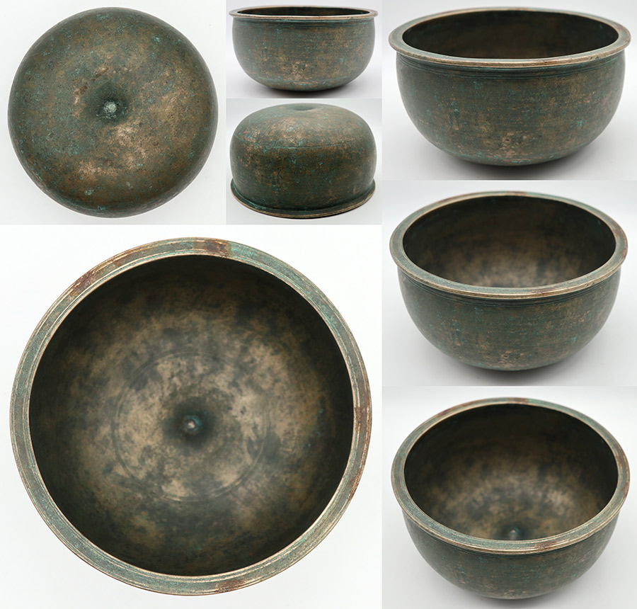 Exceptional Rare Pot-Shaped Antique Lingam Singing Bowl – E4 (336Hz) – A Gem!