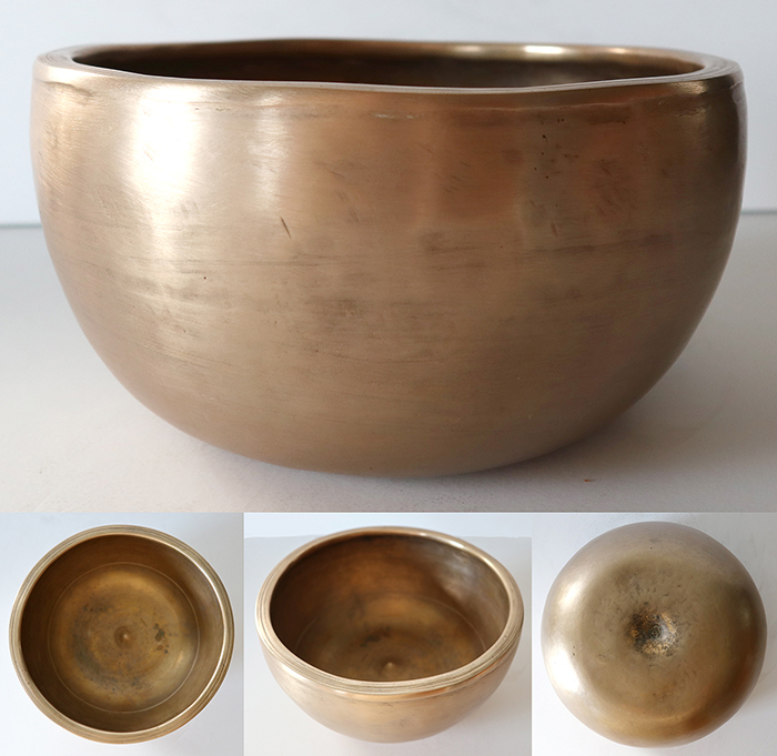 Unique Golden Antique (Circa 1800) Lingam Singing and Talking Bowl – A4/Bb4