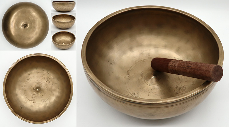 Superior Quality Rare & Exceptionally Large 18th Century Lingam Singing Bowl – Bb3/B3