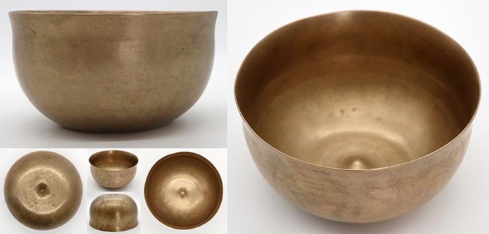 Rare Ultra-Fine Bell-Shaped Antique Lingam Singing Bowl  - G3 & High C6