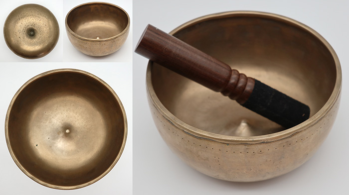 Rare Antique Lingam Singing Bowl – D4 (289Hz) - Suns - Inclusions