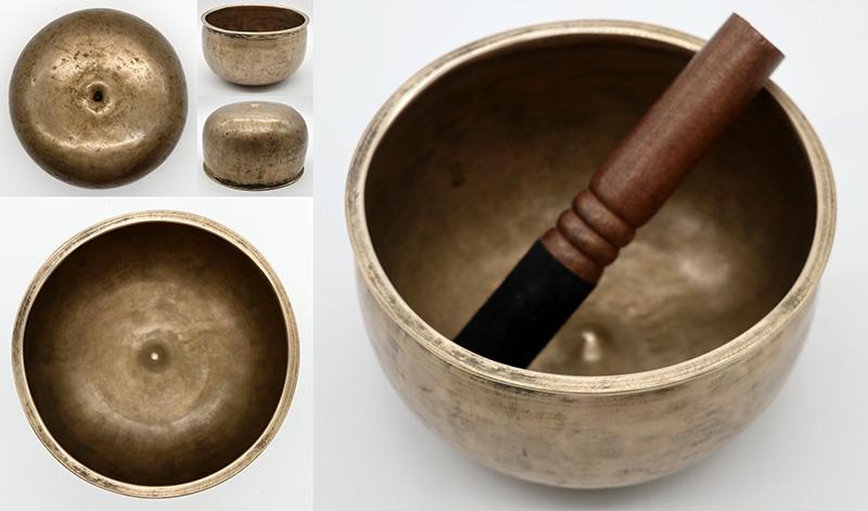 Rare Antique Pot-Shaped Lingam Singing Bowl  - D4 & G#5