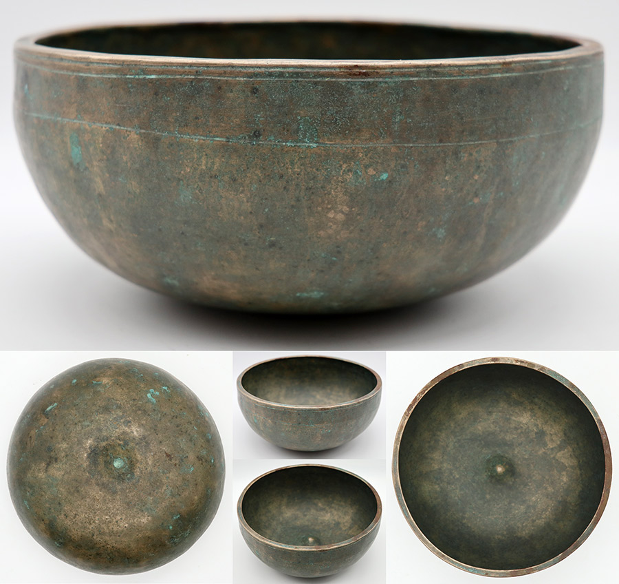 Fabulous Collectable Rare 18th Century Lingam Singing Bowl – Bb3 & E5