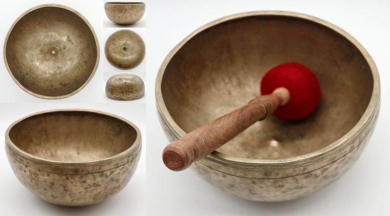 Rare Antique Lingam Singing Bowl  - B3/C4 – Lovely Graceful Shape
