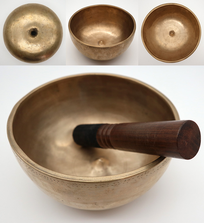 Rare Premium Quality Antique Lingam Singing Bowl – D4 (301Hz)