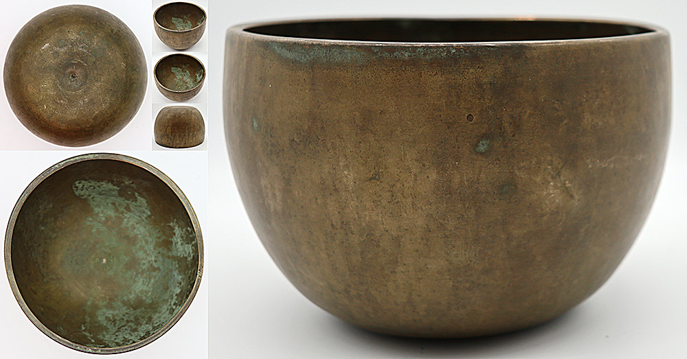 Magnificent & Unique 18th Century Lingam Singing Bowl – Perfect Pitch D4