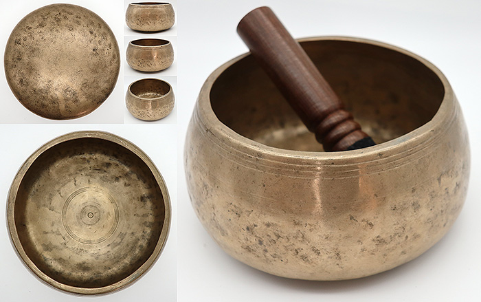 Rare Medium Antique Mani Singing Bowl – A4 (431Hz)