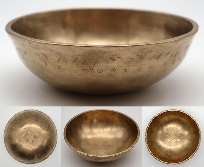 Superior Tiny Bb5 Antique Manipuri Singing Bowl – Suns & Ritual Gashes