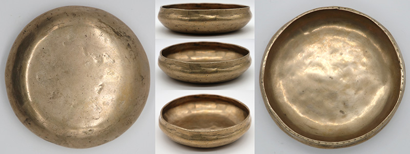 Rare Small Golden Antique Shaman Divination Bowl – C#5 (541Hz)