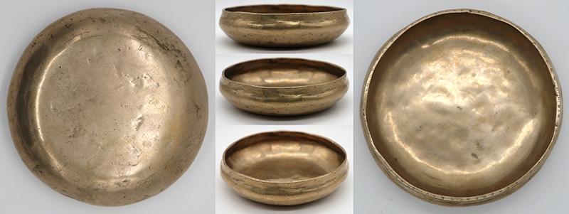 Rare Small Golden Antique Shaman Divination Bowl – C#5 (541Hz)
