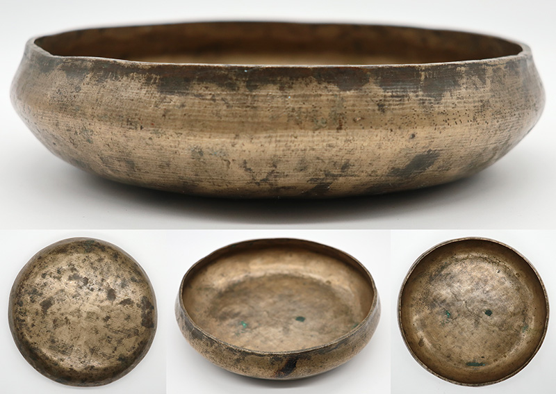 Rare Inscribed Antique Shaman Divination Bowl – E4 (335Hz)